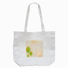 Leaf Polka Dot Green Flower Star Tote Bag (white) by Mariart