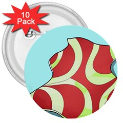 Make Bedroom Unique 3  Buttons (10 Pack)  by Mariart
