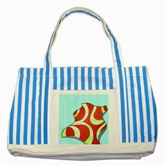Make Bedroom Unique Striped Blue Tote Bag by Mariart