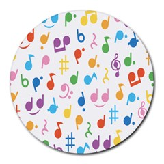 Musical Notes Round Mousepads