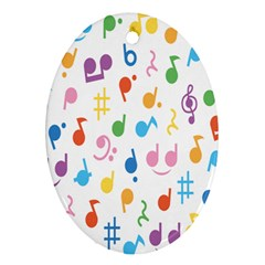Musical Notes Ornament (oval) by Mariart