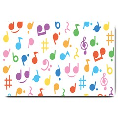 Musical Notes Large Doormat  by Mariart