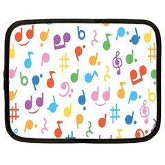 Musical Notes Netbook Case (large)