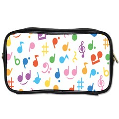 Musical Notes Toiletries Bags 2 Side by Mariart