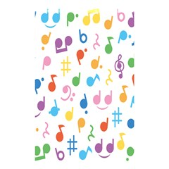 Musical Notes Shower Curtain 48  X 72  (small)  by Mariart