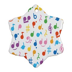 Musical Notes Ornament (snowflake) by Mariart