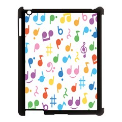 Musical Notes Apple Ipad 3/4 Case (black) by Mariart