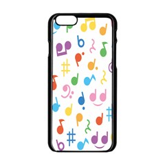 Musical Notes Apple Iphone 6/6s Black Enamel Case by Mariart