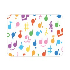 Musical Notes Double Sided Flano Blanket (mini)  by Mariart