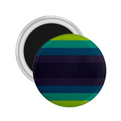 Neon Stripes Line Horizon Color Rainbow Yellow Blue Purple Black 2 25  Magnets by Mariart