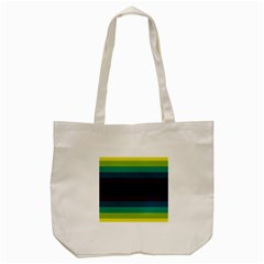Neon Stripes Line Horizon Color Rainbow Yellow Blue Purple Black Tote Bag (cream) by Mariart