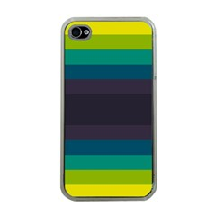 Neon Stripes Line Horizon Color Rainbow Yellow Blue Purple Black Apple Iphone 4 Case (clear) by Mariart