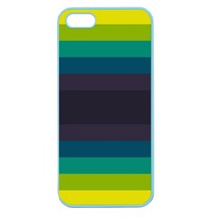 Neon Stripes Line Horizon Color Rainbow Yellow Blue Purple Black Apple Seamless Iphone 5 Case (color) by Mariart