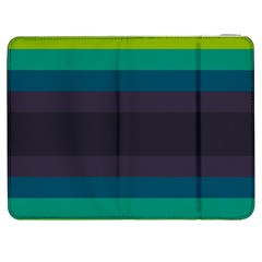 Neon Stripes Line Horizon Color Rainbow Yellow Blue Purple Black Samsung Galaxy Tab 7  P1000 Flip Case by Mariart