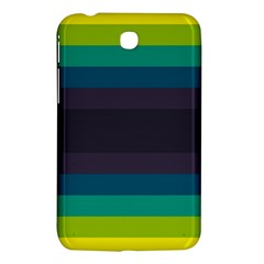 Neon Stripes Line Horizon Color Rainbow Yellow Blue Purple Black Samsung Galaxy Tab 3 (7 ) P3200 Hardshell Case  by Mariart