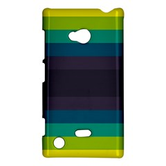Neon Stripes Line Horizon Color Rainbow Yellow Blue Purple Black Nokia Lumia 720 by Mariart