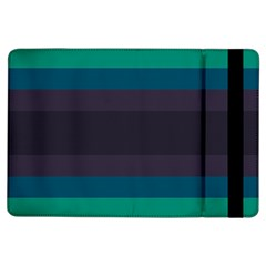 Neon Stripes Line Horizon Color Rainbow Yellow Blue Purple Black Ipad Air Flip by Mariart