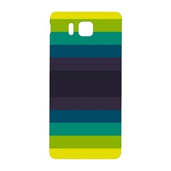 Neon Stripes Line Horizon Color Rainbow Yellow Blue Purple Black Samsung Galaxy Alpha Hardshell Back Case by Mariart