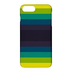 Neon Stripes Line Horizon Color Rainbow Yellow Blue Purple Black Apple Iphone 7 Plus Hardshell Case by Mariart