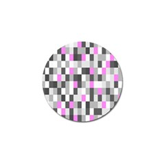 Pink Grey Black Plaid Original Golf Ball Marker (4 Pack) by Mariart