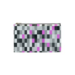 Pink Grey Black Plaid Original Cosmetic Bag (small)  by Mariart