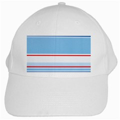 Navy Blue White Red Stripe Blue Finely Striped Line White Cap by Mariart