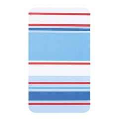 Navy Blue White Red Stripe Blue Finely Striped Line Memory Card Reader by Mariart