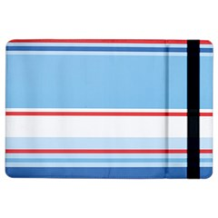 Navy Blue White Red Stripe Blue Finely Striped Line Ipad Air 2 Flip by Mariart