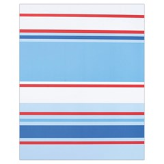 Navy Blue White Red Stripe Blue Finely Striped Line Drawstring Bag (small) by Mariart