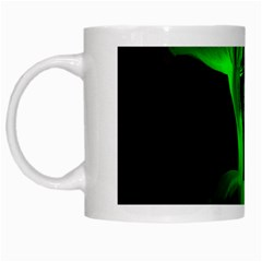 Neon Green Resolution Mushroom White Mugs by Mariart