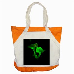 Neon Green Resolution Mushroom Accent Tote Bag by Mariart