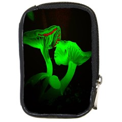 Neon Green Resolution Mushroom Compact Camera Cases by Mariart
