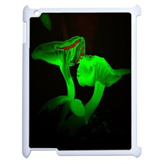 Neon Green Resolution Mushroom Apple Ipad 2 Case (white) by Mariart