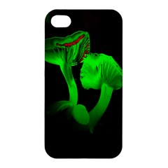 Neon Green Resolution Mushroom Apple Iphone 4/4s Hardshell Case by Mariart