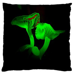 Neon Green Resolution Mushroom Large Cushion Case (two Sides) by Mariart