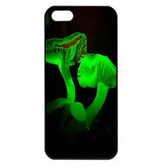 Neon Green Resolution Mushroom Apple Iphone 5 Seamless Case (black) by Mariart