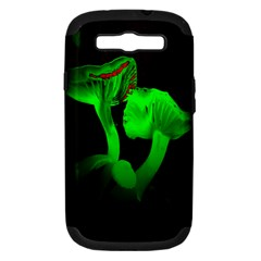 Neon Green Resolution Mushroom Samsung Galaxy S Iii Hardshell Case (pc+silicone) by Mariart
