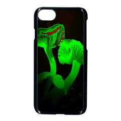 Neon Green Resolution Mushroom Apple Iphone 7 Seamless Case (black) by Mariart