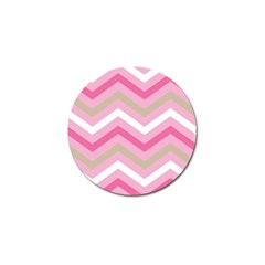 Pink Red White Grey Chevron Wave Golf Ball Marker (10 Pack) by Mariart