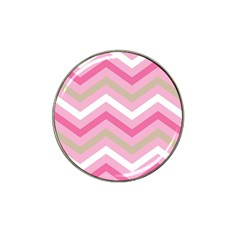 Pink Red White Grey Chevron Wave Hat Clip Ball Marker (4 Pack) by Mariart