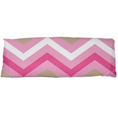 Pink Red White Grey Chevron Wave Body Pillow Case Dakimakura (two Sides) by Mariart