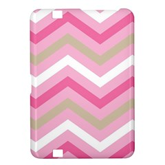 Pink Red White Grey Chevron Wave Kindle Fire Hd 8 9  by Mariart