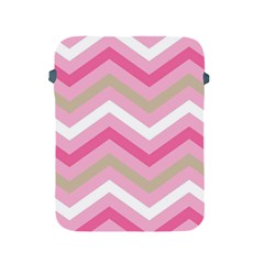 Pink Red White Grey Chevron Wave Apple Ipad 2/3/4 Protective Soft Cases by Mariart
