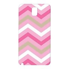 Pink Red White Grey Chevron Wave Samsung Galaxy Note 3 N9005 Hardshell Back Case by Mariart