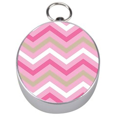 Pink Red White Grey Chevron Wave Silver Compasses by Mariart