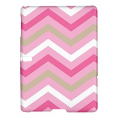 Pink Red White Grey Chevron Wave Samsung Galaxy Tab S (10 5 ) Hardshell Case  by Mariart