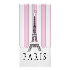 Pink Paris Eiffel Tower Stripes France Shower Curtain 36  X 72  (stall)  by Mariart