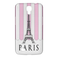 Pink Paris Eiffel Tower Stripes France Samsung Galaxy Mega 6 3  I9200 Hardshell Case by Mariart