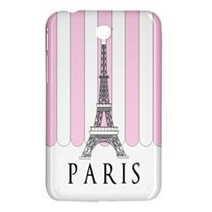 Pink Paris Eiffel Tower Stripes France Samsung Galaxy Tab 3 (7 ) P3200 Hardshell Case  by Mariart