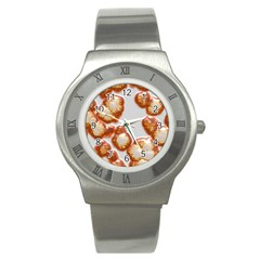 Abstract Texture A Completely Seamless Tile Able Background Design Stainless Steel Watch by Nexatart